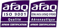 Certifications ISO9001 et EN9100